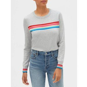 GAP Rainbow Pattern Crewneck Sweater
